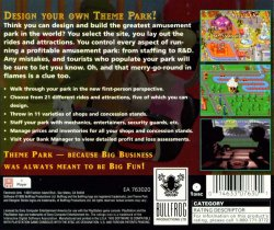 Theme Park back cover