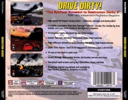 Demolition Racer back cover