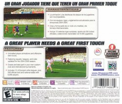 FIFA Soccer 2005 back cover