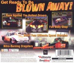 IHRA Drag Racing back cover