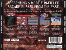 Namco Museum Vol. 4 back cover