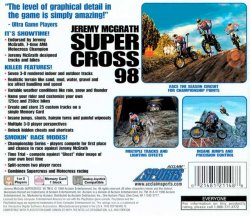 Jeremy McGrath Supercross 98 back cover