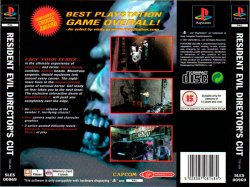 resident evil direct's cut back cover