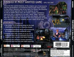 Fear Effect 2 back cover