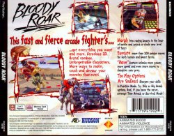 Bloody Roar back cover