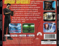 Mission Impossible back cover