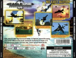 Eagle One: Harrier Attack back cover