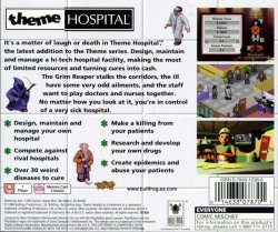 Theme Hospital back cover