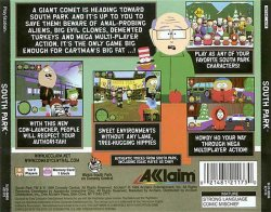 South Park back cover
