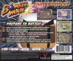 Bomberman: Party Edition back cover