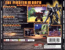 Armored Core: Master of Arena back cover
