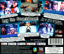 WWF SmackDown! back cover