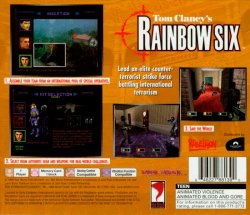 Tom Clancy's Rainbow Six back cover
