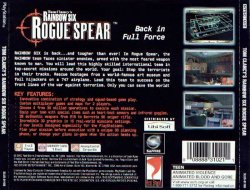 Tom Clancy's Rainbow Six: Rogue Spear back cover
