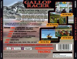 Gallop Racer back cover