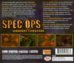 Spec Ops: Airborne Commando back cover