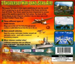 Army Men: World War Land, Sea, Air back cover
