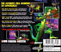Gex: Enter the Gecko back cover